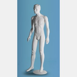 MALE WHITE SCULPTED MANNEQUIN