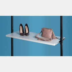 WHITE WOODEN SHELF 96CM FOR UPRIGHTS ISEO