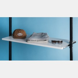 WHITE WOODEN SHELF 146CM FOR UPRIGHTS ISEO