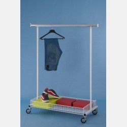 CLOTHES RAIL WITH BASKET
