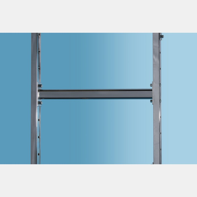 CHROME OVAL HANGING RAIL 96CM FOR UPRIGHTS ISEO