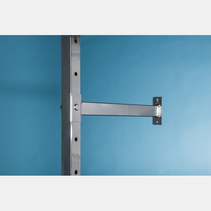 WALL FIXING BRACKETS FOR SHELVING UNIT ISEO CHROME