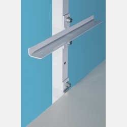 WHITE SHELF BRACKETS FOR SHELVING UNIT ISEO