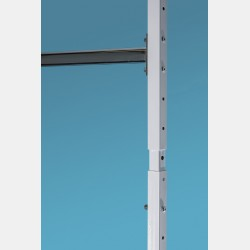 FIXED METAL EXTENSION FOR UPRIGHT ISEO WHITE