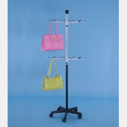 REVOLVING BLACK TWO-LAYER HANDBAGS DISPLAY