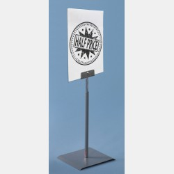 METALLIC GREY CARD STANDS WITH PLEXIGLASS A4 FORMAT