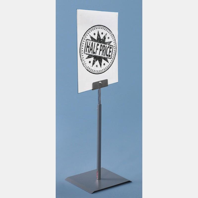 METALLIC GREY CARD STANDS WITH PLEXIGLASS A4 FORMAT