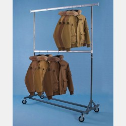 REINFORCED 2-TIER CLOTHES RAIL GOLIA - ADJUSTABLE HEIGHT