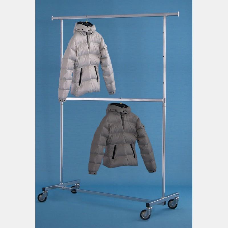 CHROME 2-TIER CLOTHES RAIL MAGGIORE