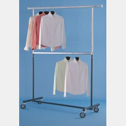 GREY 2-TIER CLOTHES RAIL MAGGIORE