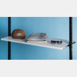 WHITE WOODEN SHELF 146CM FOR UPRIGHTS PAL