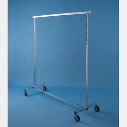"CHROME ""MAGGIORE"" CLOTHES RAIL - FIXED HEIGHT"