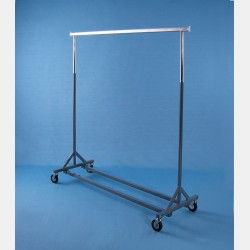 GREY REINFORCED CLOTHES RAIL GOLIA - FIXED HEIGHT