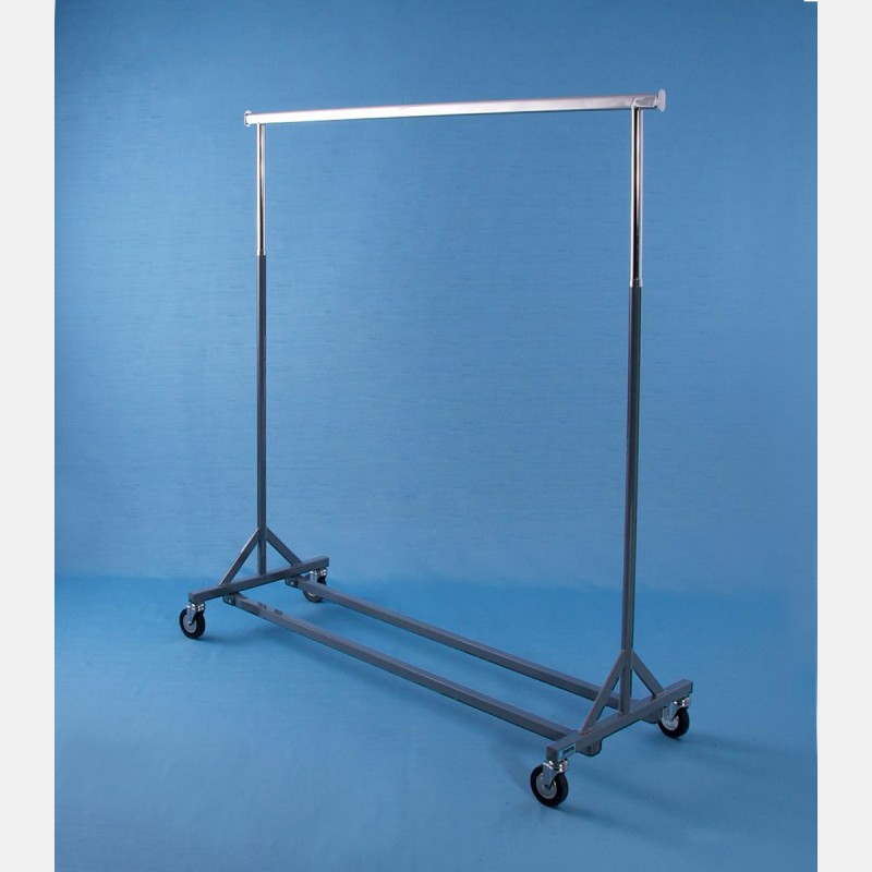 """GREY """"GOLIA"""" REINFORCED CLOTHES RAIL - FIXED HEIGHT"""