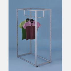 RECTANGULAR GARMENT DISPLAY UNIT 140CM WITH TOP BAR