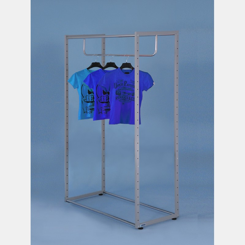 RECTANGULAR GARMENT DISPLAY UNIT 180CM WITH TOP BAR