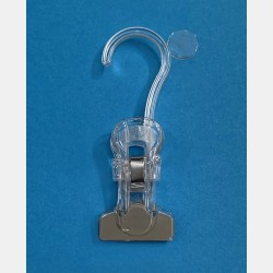 TRANSPARENT CLIPS WITH HOOK 11.5CM