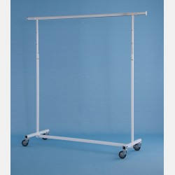 "WHITE ""COMO"" CLOTHES RAIL - ADJUSTABLE HEIGHT"