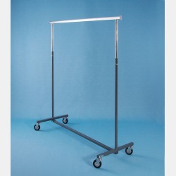 "GREY ""MAGGIORE"" CLOTHES RAIL - ADJUSTABLE HEIGHT"