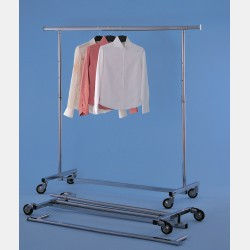 CHROME CLOTHES RAIL SVELTO WITH ADJUSTABLE HEIGHT