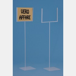 FLOOR STANDING SIGN HOLDER WHITE