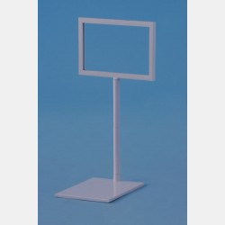 SMALL SIGN HOLDER IN WHITE PLASTIC