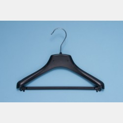 BLACK CLOTHES HANGER 30CM WITH BAR
