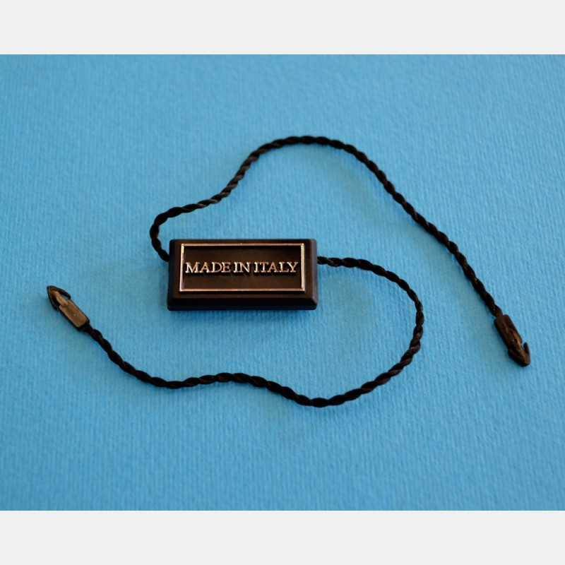 BLACK RECTANGULAR SEAL TAGS - MADE IN ITALY