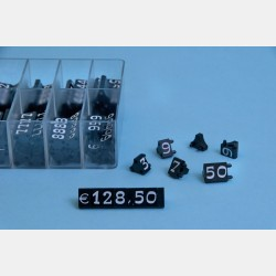 "BLACK-WHITE MODULAR PRICE TAGS ""MODA"" (360 pcs)"