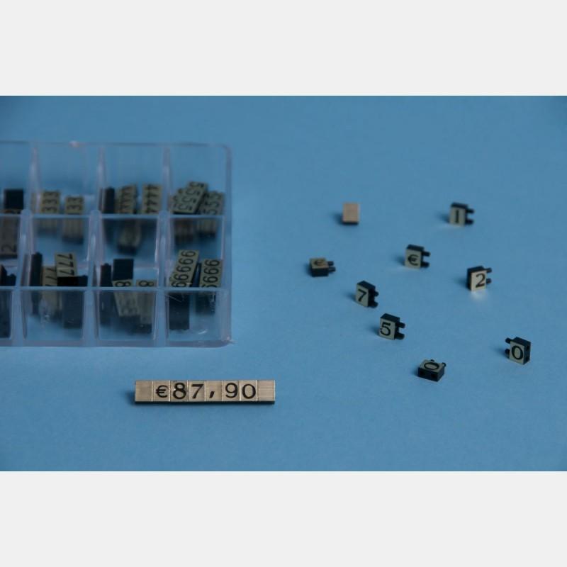 """GOLD-BLACK MODULAR PRICE TAGS """"MINI"""" (360 pcs)"""