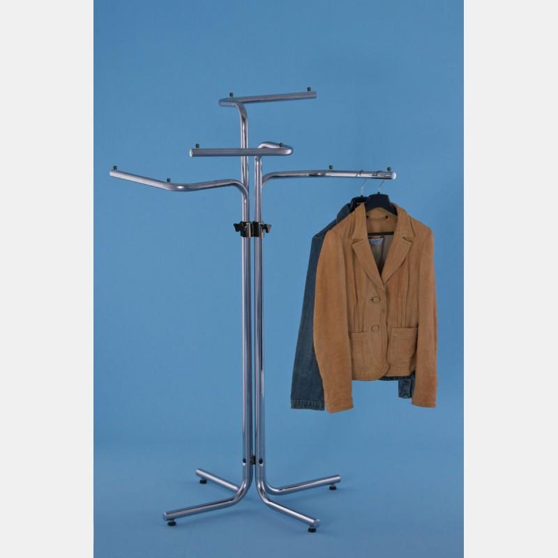 CHROME FOUR-ARM CLOTHING MERCHANDISER