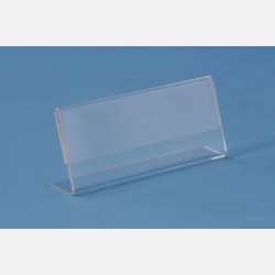 CLEAR INCLINED HORIZONTAL CARDHOLDER