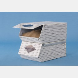 GARMENT STORAGE BOX WITH FRONT OPENING