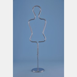 CHROME FEMALE TUBULAR MANNEQUIN