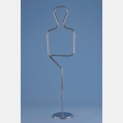 CHROME MALE TUBULAR MANNEQUIN