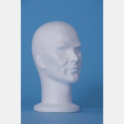 POLYSTYRENE MALE DISPLAY HEAD