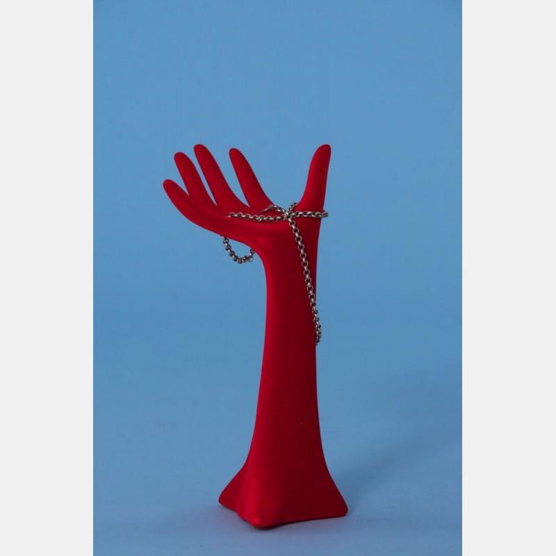 MEDIUM RED VELVET MANNEQUIN HAND