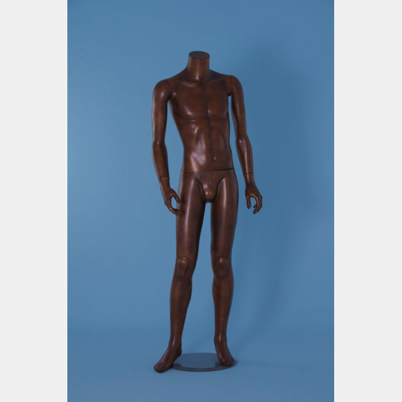 HEADLESS MALE MANNEQUIN - LEATHER COLOR