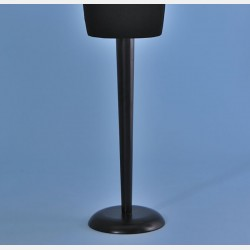 BLACK WOOD CONICAL STAND FOR TAILORS DUMMY