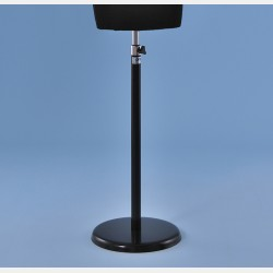 BLACK ROUND STAND IN METAL FOR TAILORS DUMMY