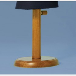 LIGHT WALNUT WOOD STAND - MEDIUM HEIGHT