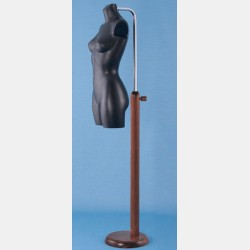 WOODEN NECK STAND FOR PLASTIC TORSOS
