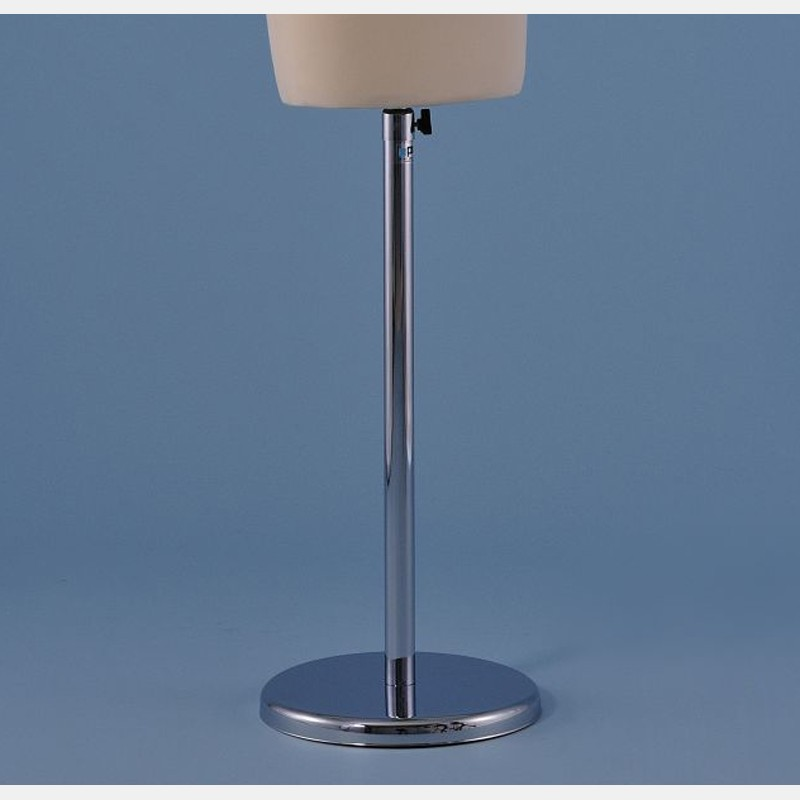 CHROME ROUND STAND IN METAL FOR TAILORS DUMMY